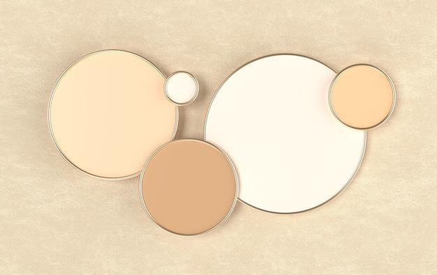 3d визуализации геометрические фигуры, круглый подиум