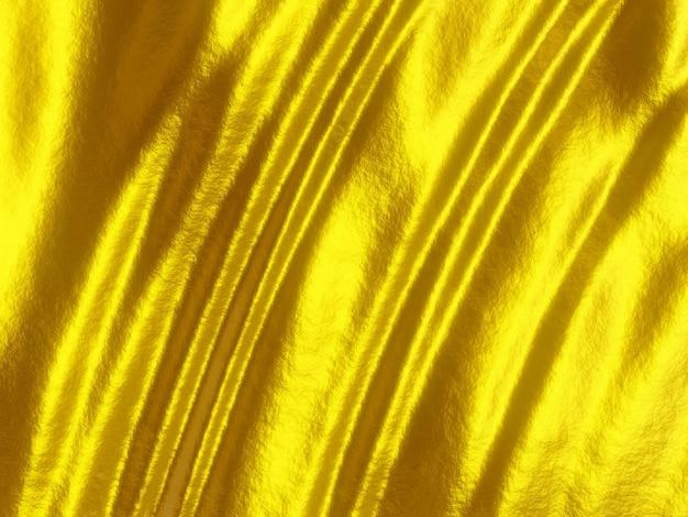 3d 렌더링 금 물결 모양의 표면