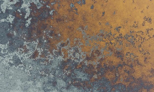 Серая и коричневая грязная поверхность стены с трехмерной визуализацией