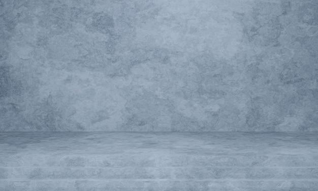 3d 렌더링 회색 계단 및 시멘트 벽 배경