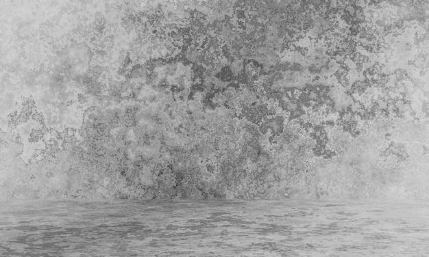 3d визуализация серый фон выветривания цементной стены