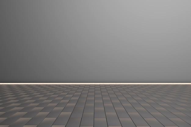 3d 렌더링 빈 방 그림.
