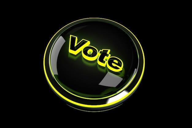 3d визуализация иллюстрация кнопки голосования.