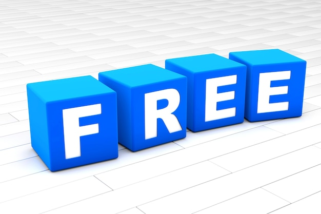 3d rendered illustration of the word free