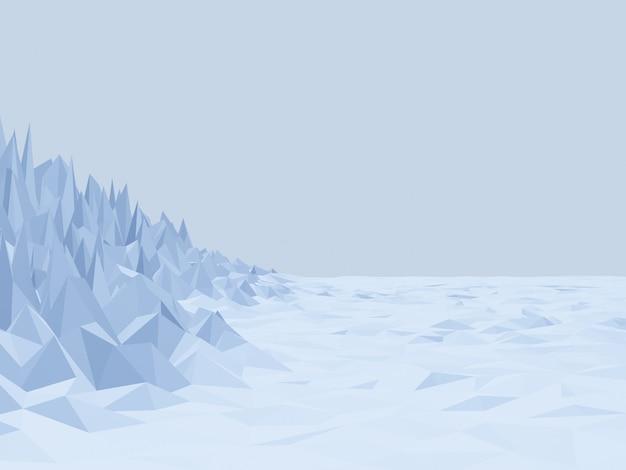 3d-рендеринг низкополигональной ледяной горы
