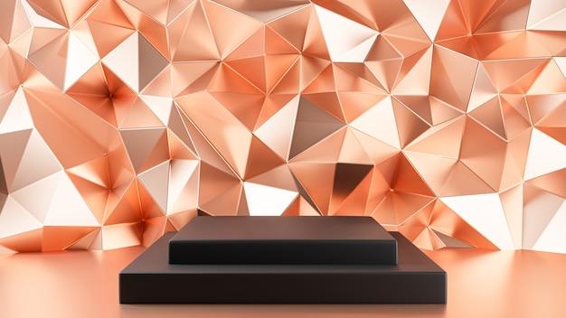 3d rendered. pedestal for display