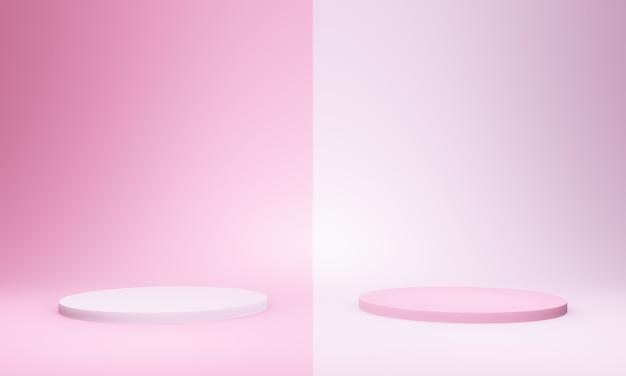 Трехмерный макет розового подиума