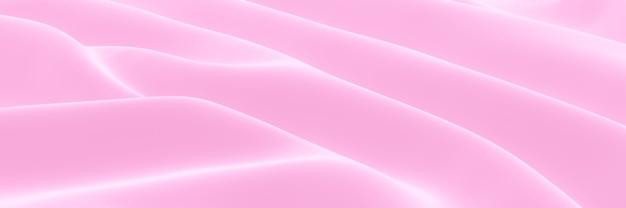 Ткань с волнистой текстурой розового цвета, визуализированная на 3d-принтере. абстрактный фон волны.