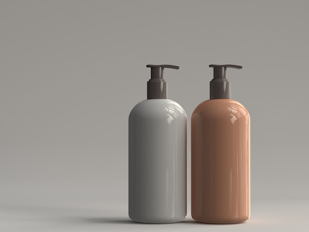 3d rendered pump bottle without a label