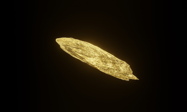 3dレンダリングされた純金塊