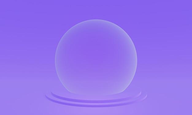 3d визуализация фиолетовый подиум на сцене