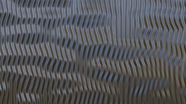 3d rendered sheet metal silver solid black background industry