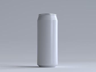 ラベルなしの3Dレンダリングソーダ缶