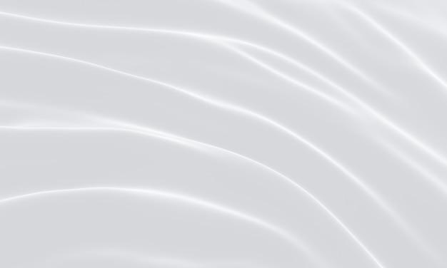 3d 렌더링된 흰색 rippled 천입니다. 추상 파 배경입니다.