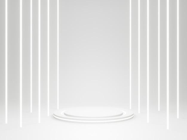 3d 렌더링 흰색 둥근 제품 스탠드.