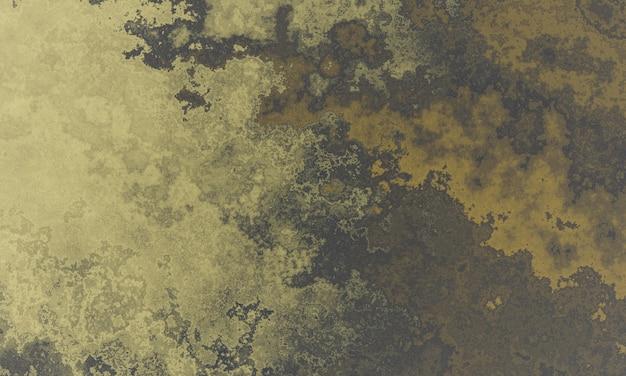 3d 렌더링 노란색과 갈색 더러운 벽 표면
