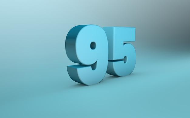 3d rendering of 95 number 3d lettering ninety five number