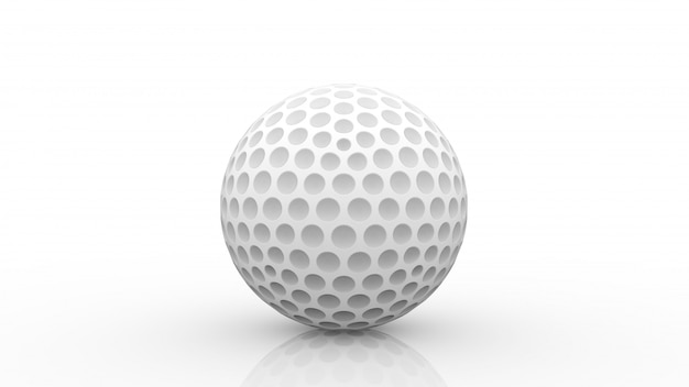 3d 렌더링. 클리핑 패스 화이트 격리와 새로운 흰색 골프 공.