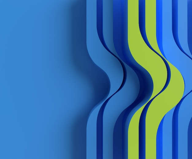 3d rendering abstract background with waves. creative architectural concept.
