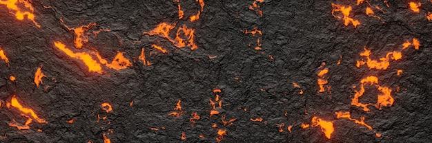 3d 렌더링. 추상 현무암 용암입니다.