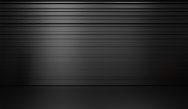 3d rendering of abstract black background premium