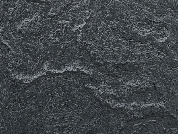 3d рендеринг абстрактная черная поверхность