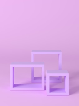 3d rendering of abstract composition for product presentation