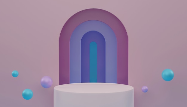 3d rendering, abstract cosmetic pastel color background.