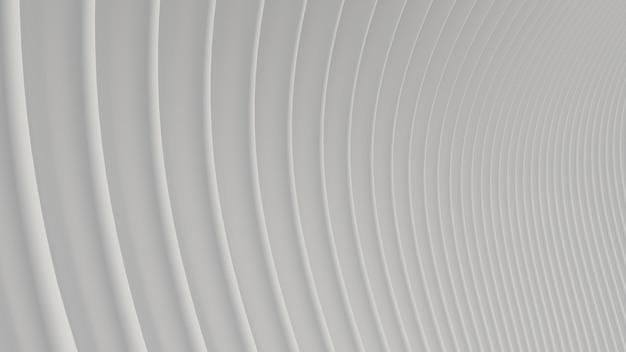 3 dレンダリング抽象的な曲線白い明確な背景