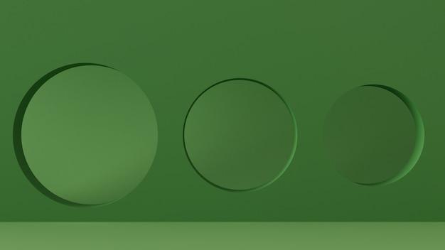 3dレンダリングの抽象的なジオメトリ形状