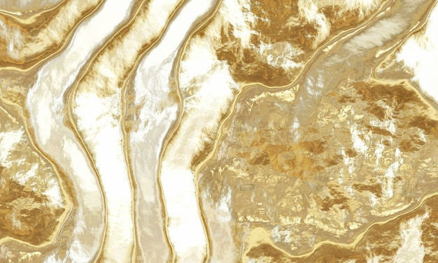 3d rendering abstract gold background