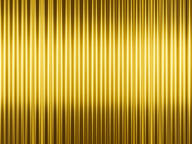 3d rendering abstract  golden vertical lines background