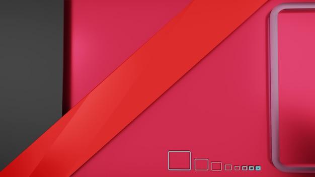 3d рендеринг абстрактный серый, красный и розовый фон