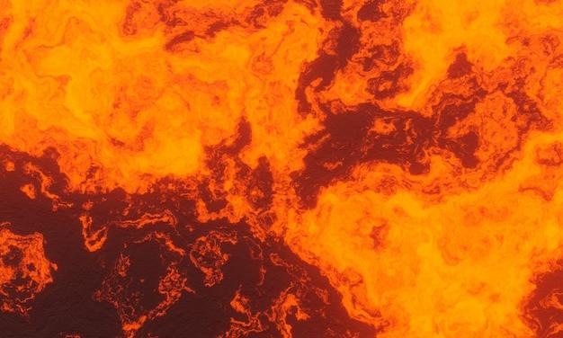 3d-рендеринг. абстрактная расплавленная магма. фон лавы.