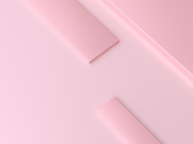 3d rendering abstract minimal overlap square pink
