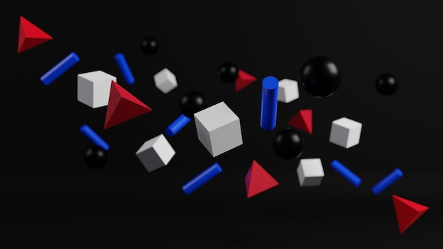 3d rendering of abstract modern geometric background