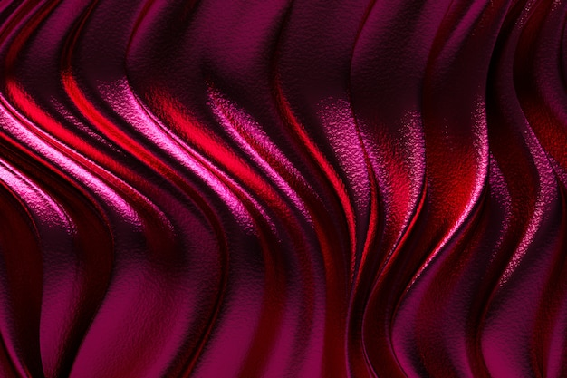 3d rendering, abstract red background luxury cloth or liquid wave or wavy folds of grunge silk texture satin velvet material or luxury background or elegant wallpaper design,red background