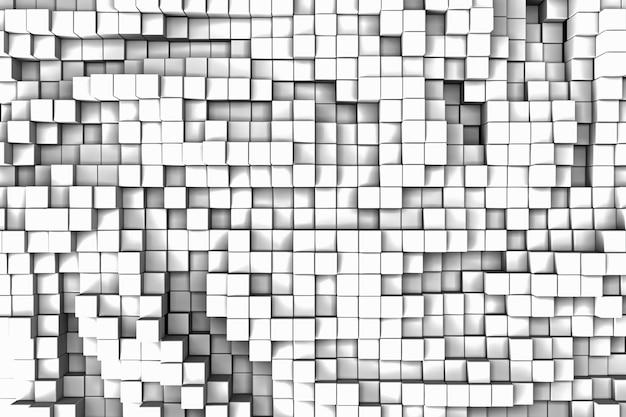 테크노 스타일의 3d 렌더링 추상 사각형 패션 색상 질감