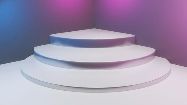 3dレンダリングの抽象的なステージの背景