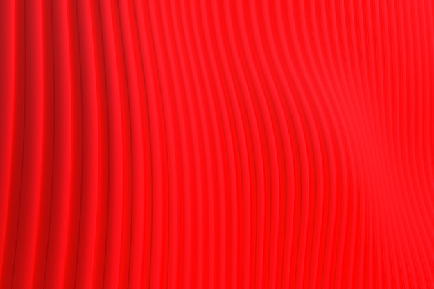3d rendering, abstract wall wave architecture red background , red background for presentation, portfolio, website