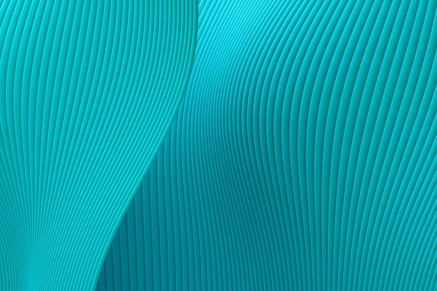 3d rendering, abstract wall wave architecture sea green background ,sea green background for presentation, portfolio, website