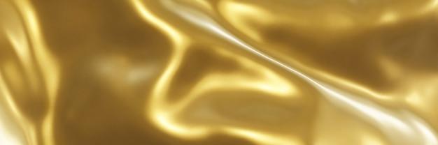 3d 렌더링 추상 물결 모양의 골드 배경