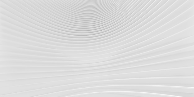 3dレンダリングの抽象的な白い線