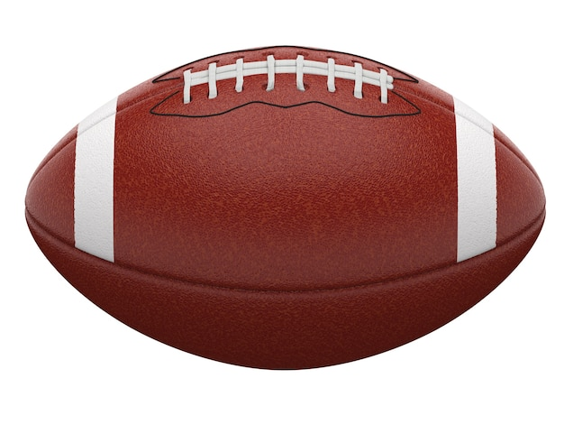 3d rendering american football ball isolated on white