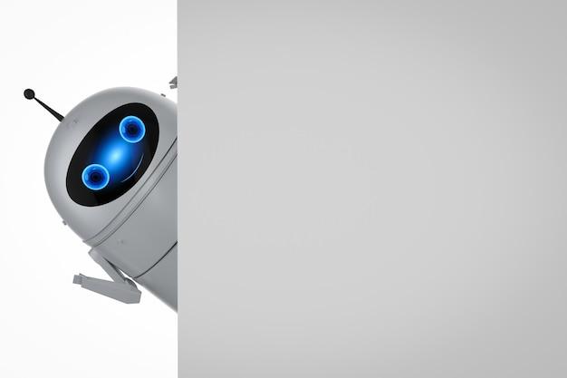 3d-рендеринг робота android или робота с искусственным интеллектом с пустым пространством