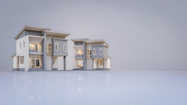 3d визуализация архитектурный дом