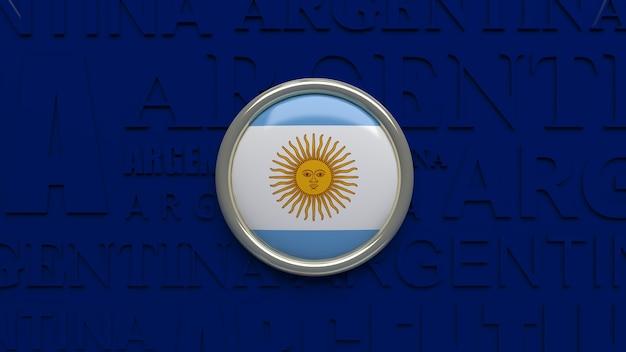 3d rendering of argentina national flag