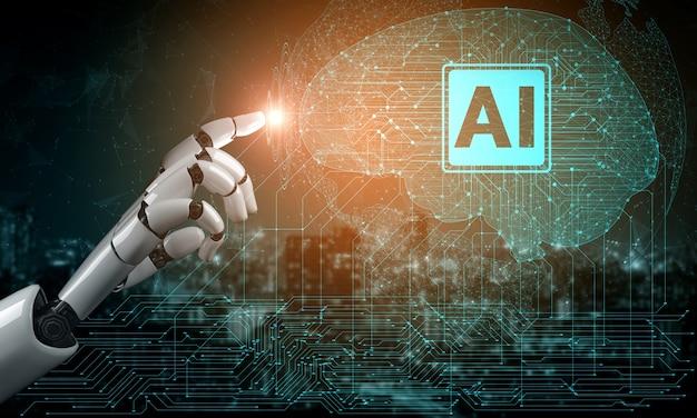 3d-рендеринг искусственный интеллект исследования искусственного интеллекта разработки роботов и киборгов для будущего людей живущих