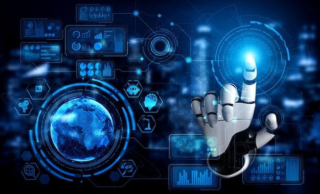 3d-рендеринг искусственного интеллекта исследования искусственного интеллекта робота