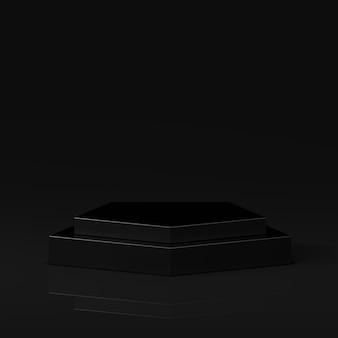 3d 렌더링 연단에 검은 색과 조화를 이룹니다.